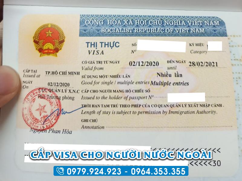 Thủ tục xin visa Việt Nam cho người Mỹ